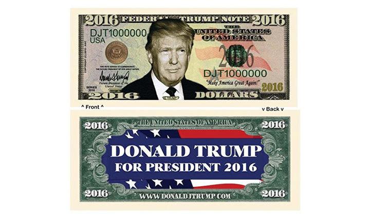 Donald Trump Dollar Novelty Bills